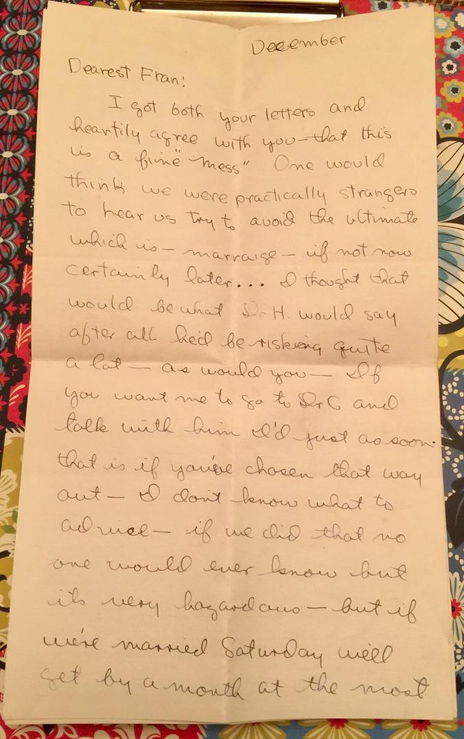 Last Letter Bob to Fran