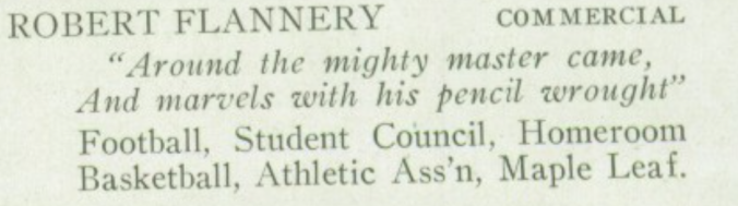 Robert Flannery - Yearbook